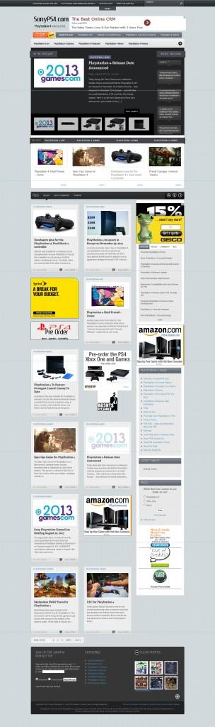 Magazine Theme Website Design