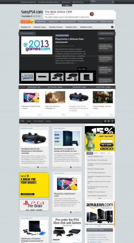 Magazine Style Website Design