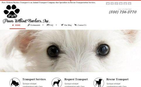 Transport Service Mobile Web Design Mockup